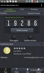 LG Optimus G Benchmark