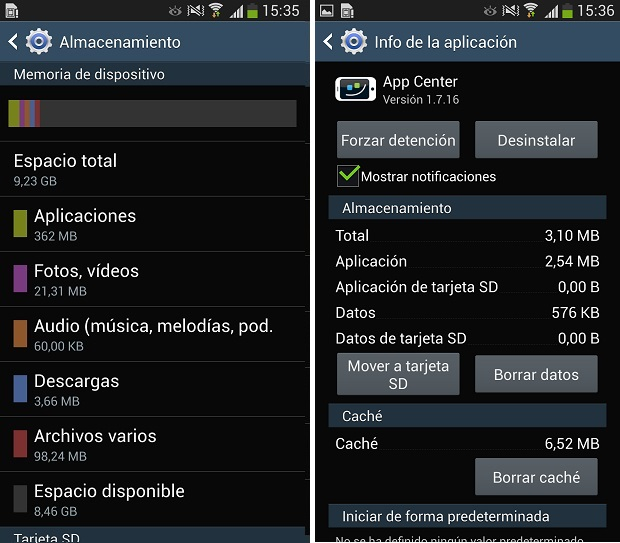 Como mover las aplicaciones a la tarjeta SD en el Samsung ...