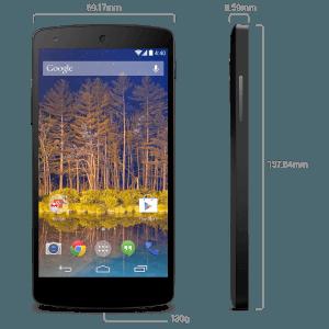 Nexus 5 dimensiones