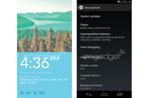 Android-CyanogenMod-11S-OnePlus-One