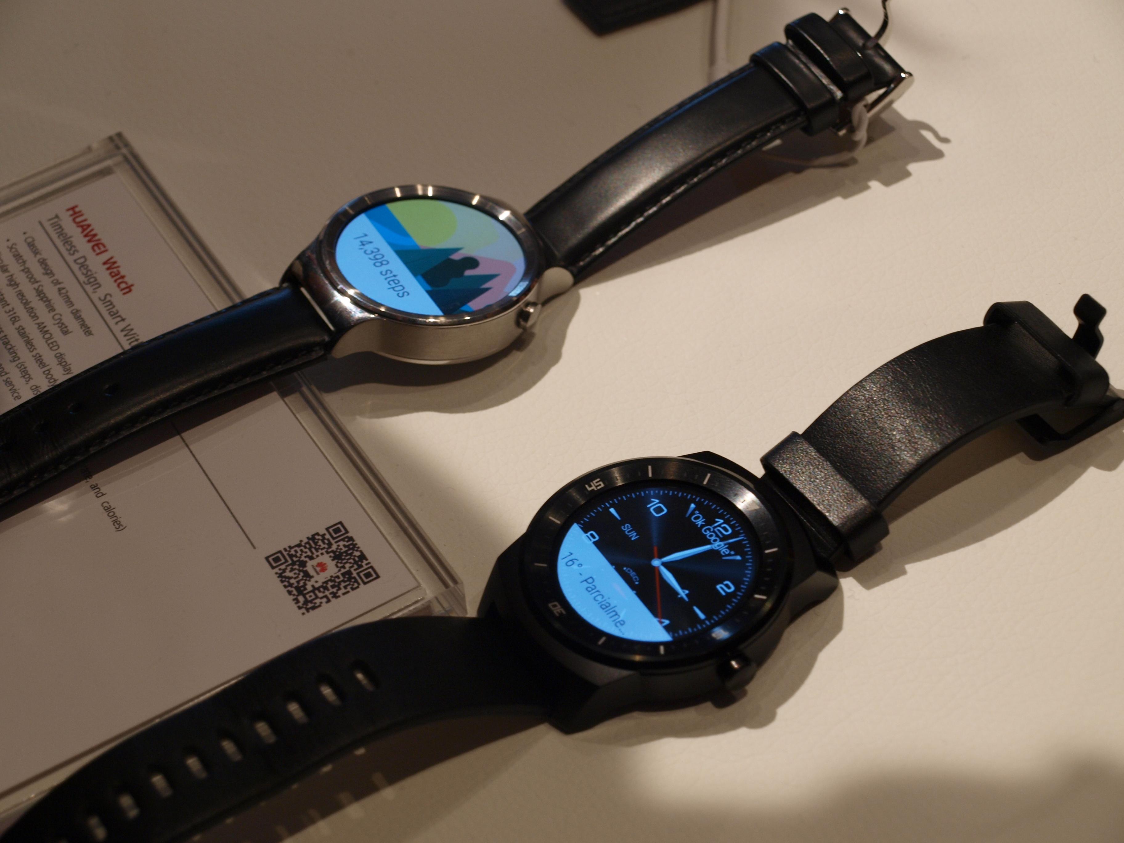 Comparando tamaño con LG G Watch R