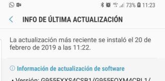 Samsung Galaxy S8 Plus actualización de febrero , niveld e parche de seguridad 1 de febrero