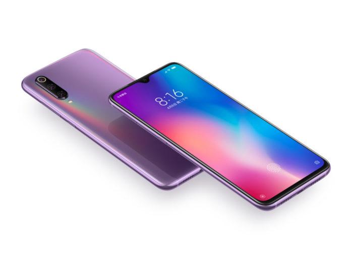 Xiaomi Mi 9 frontal y trasera